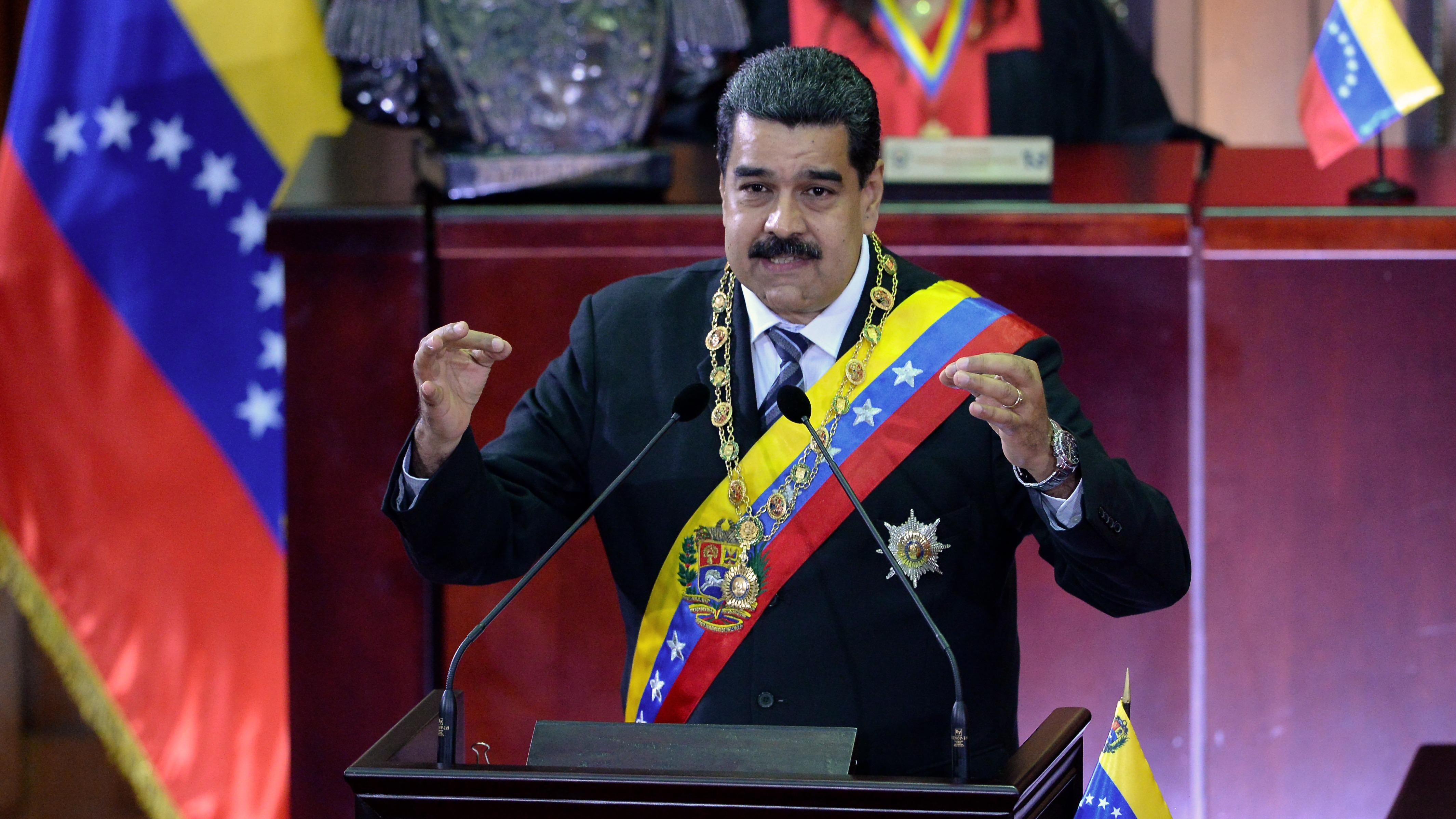 El presidente de Venezuela, Nicolás Maduro, habló este miércoles en una ceremonia en el Tribunal Supremo de Justicia (TSJ).