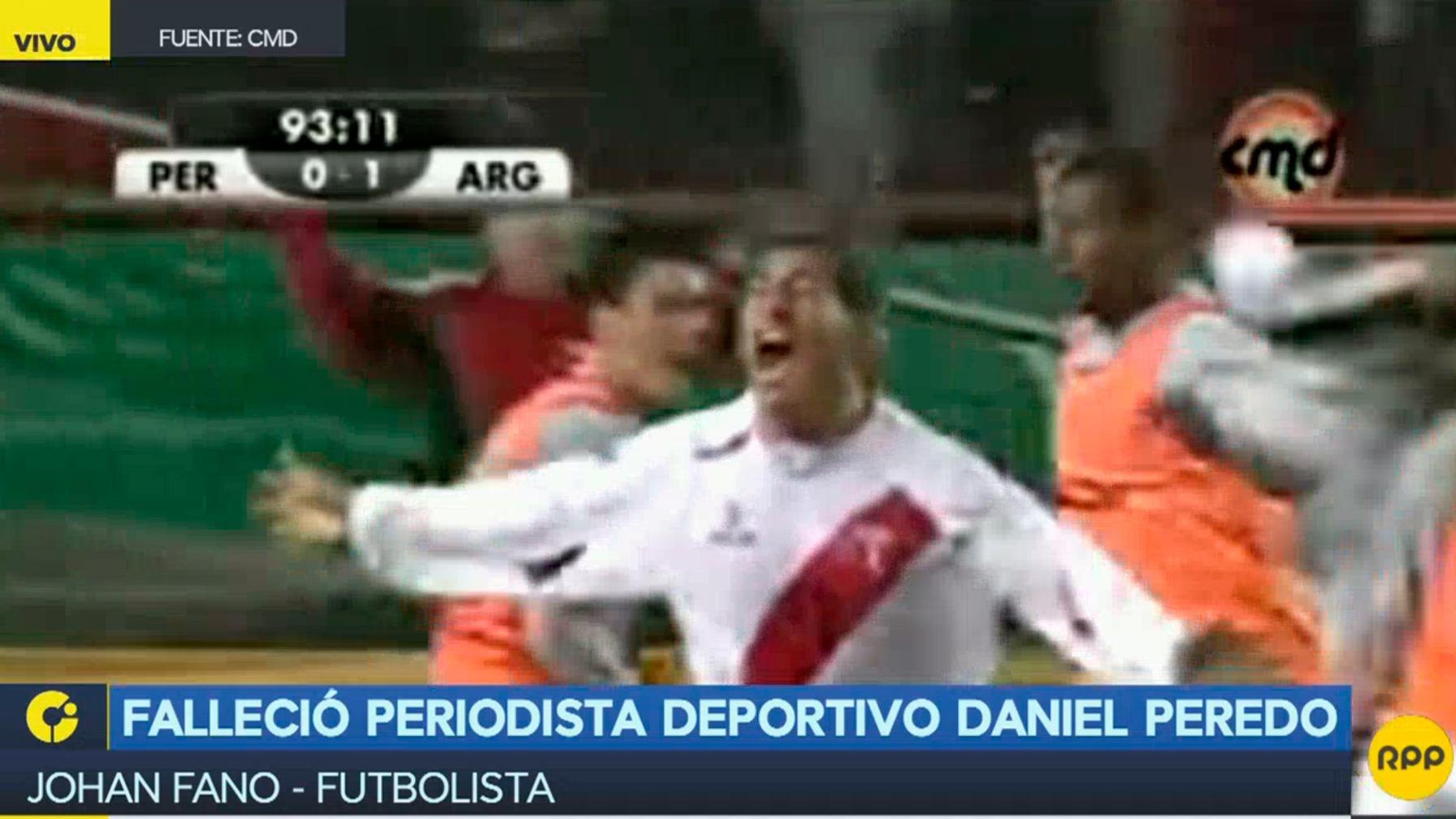 El futbolista Fano recordó la narración de Daniel Peredo de su gol frente a Argentina