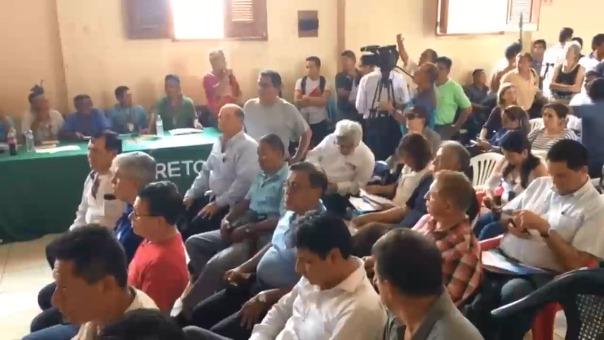 Reunión entre Ejecutivo y comunidades nativas en Nauta.