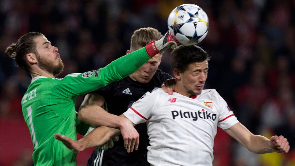 Sevilla y Manchester United empataron 0-0 por los octavos de final de la Champions League.