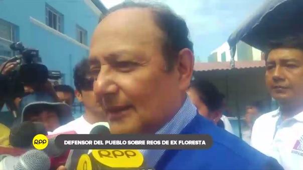 El defensor del Pueblo Walter Gutiérrez visita Trujillo.