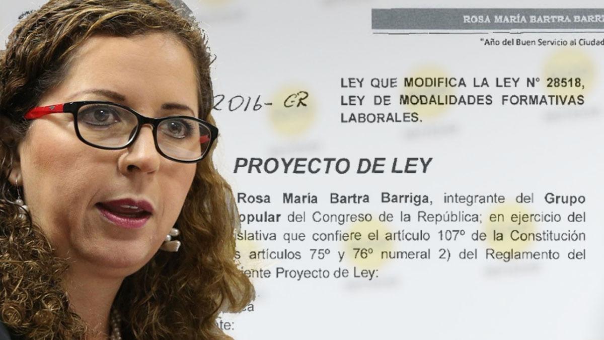 Rosa María Bartra señaló que retirará su proyecto momentáneamente.