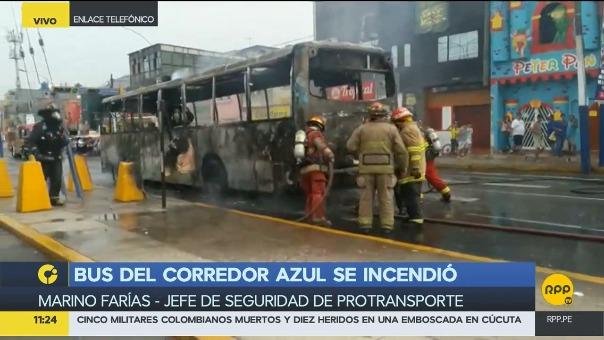 ProTransporte explicó lo sucedido en la cuadra 8 de la avenida Alcázar.