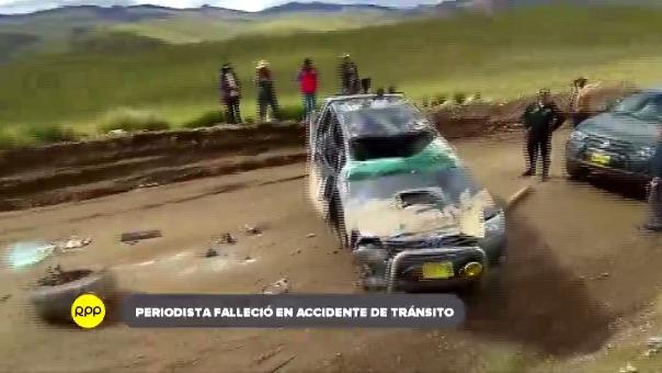 Dante Aguilar era corresponsal de América TV y había viajado hasta Llusco para cumplir con una comisión sobre la falla geológica registrada en la zona.