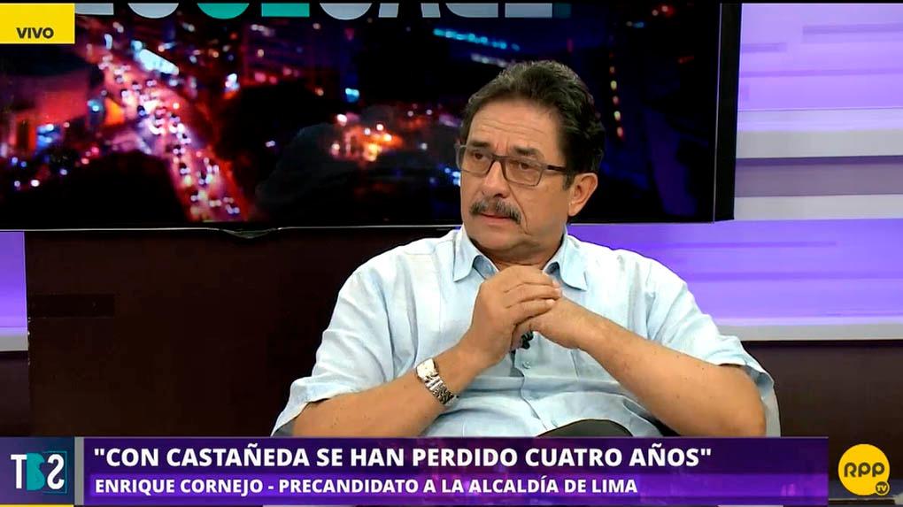 Enrique Cornejo fue candidato a la alcaldía de Lima en el 2014, y quedó segundo después de Luis Castañeda.