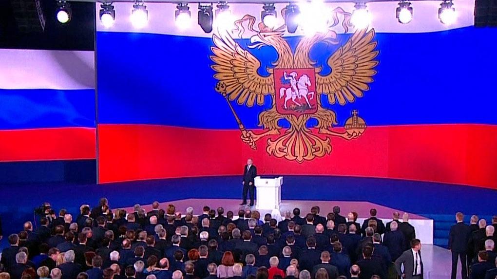 Vladimir Putin presentó misiles en Rusia.