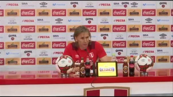 Gareca habló en conferencia de prensa tras anunciar los convocados.