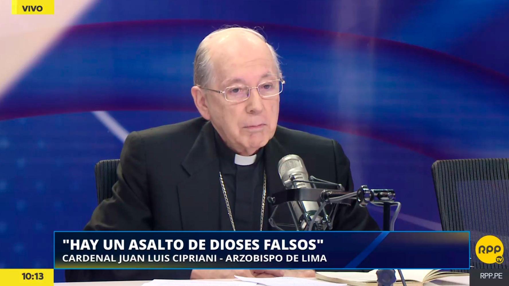 El cardenal Juan Luis Cipriani comentó el escenario político que vive el Perú.