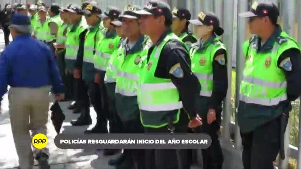 Jefe de la región policial anunció que la policía resguardará la integridad de los menores.