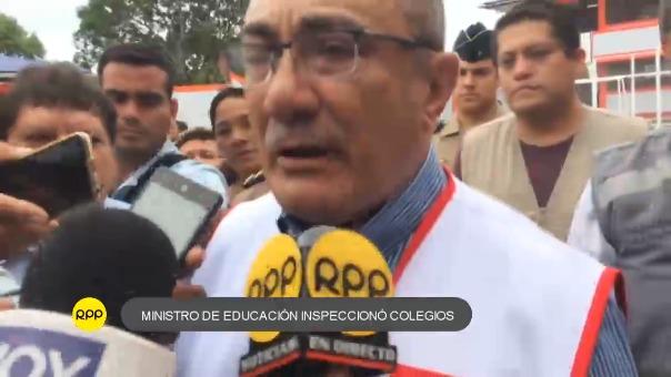 Pese a reportarse colegios dañados, algunos en proceso de reparación e incluso un paro de profesores, ministro indicó que las clases se iniciarán.