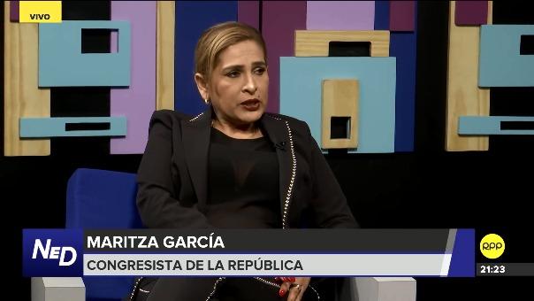 Maritza García negó que ellos sean congresistas aliados del oficialismo.