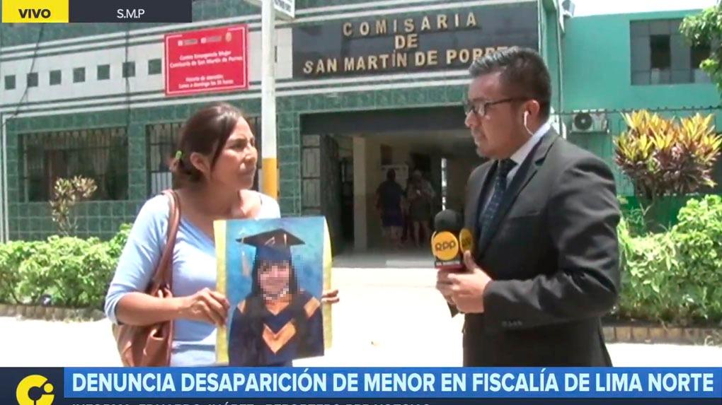 Elva Ticona denunció la desaparición de su hija en RPP Noticias.