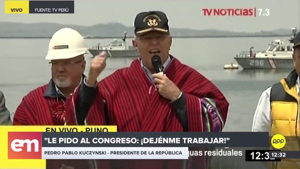 Kuczynski habló en Puno sobre el nuevo pedido de vacancia en su contra.