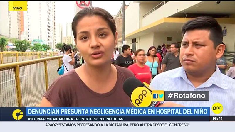 Los padres exigieron una investigación a fondo e hicieron un llamado al ministro de Salud, Abel Salinas.