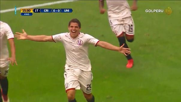 Aldo Corzó anotó su tercer gol de la temporada con Universitario de Deportes.