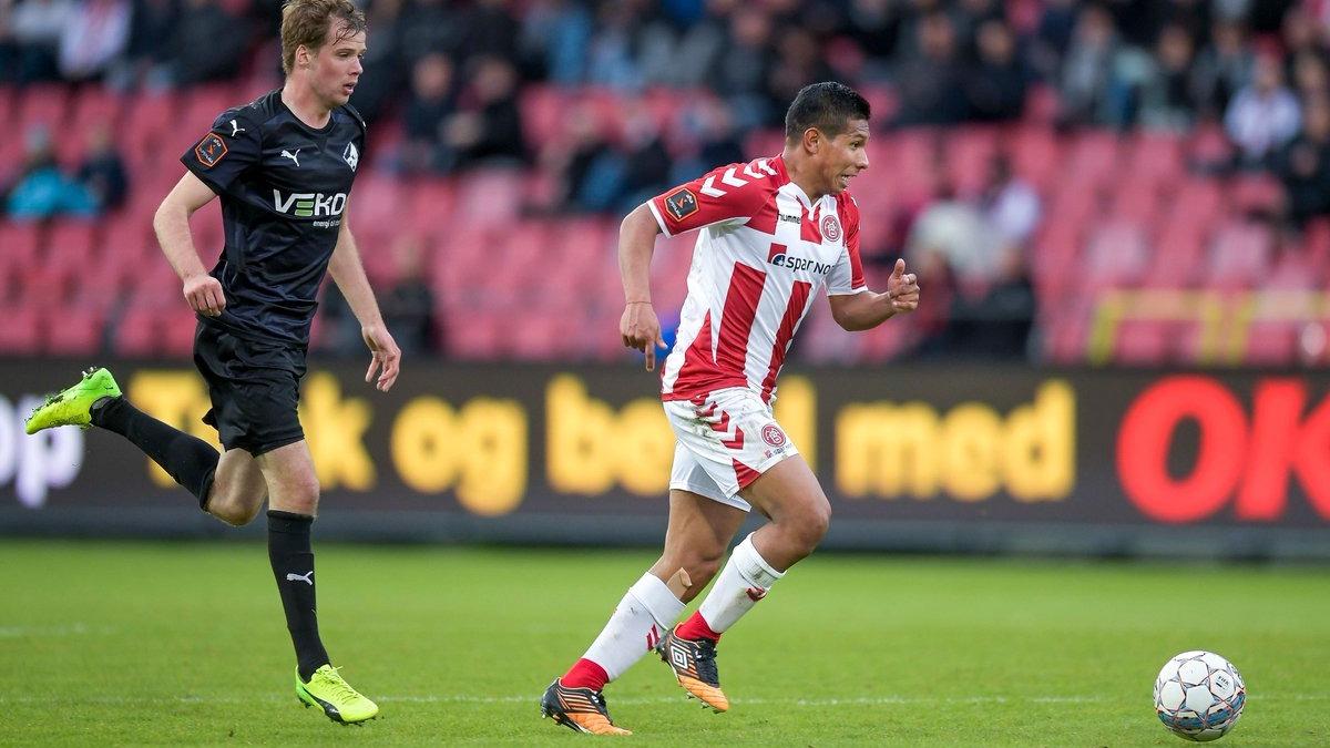 Edison Flores ha marcado un gol en la Liga de Dinamarca en esta temporada.