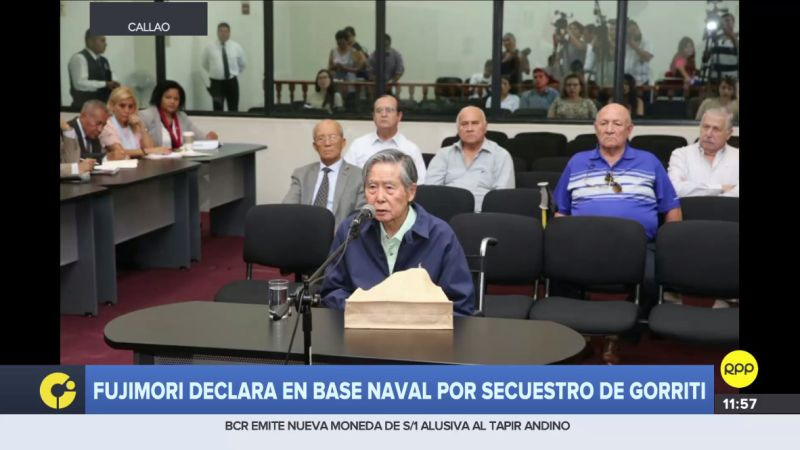 Alberto Fujimori se reencontró con Vladimiro Montesinos en la Base Naval del Callao.