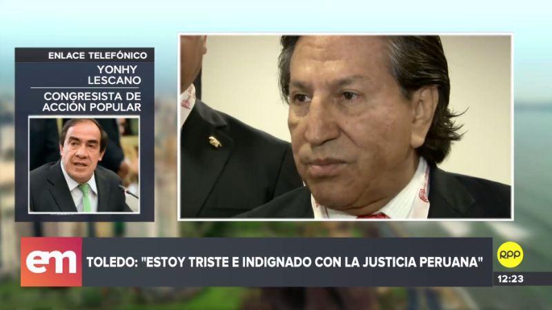 Yonhy Lescano respondió a las declaraciones de Alejandro Toledo.
