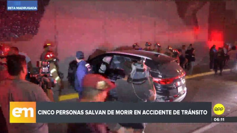Los cinco ocupantes de la camioneta salvaron de morir.