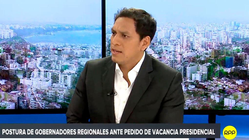 Luis Valdez, presidente de la Asociación Nacional de Gobernadores Regionales, se mostró en contra de la vacancia a PPK.