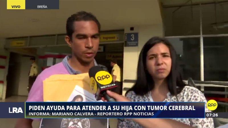 La menor se encuentra internada en el Hospital del Niño, en Breña.