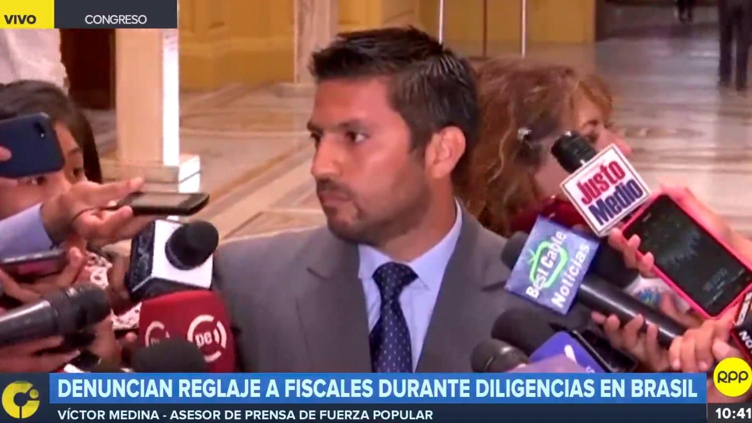El asesor Victor Medina dio sus descargos frente a las denuncias de reglaje a fiscales peruanos durante interrogatorio a Barata en Brasil