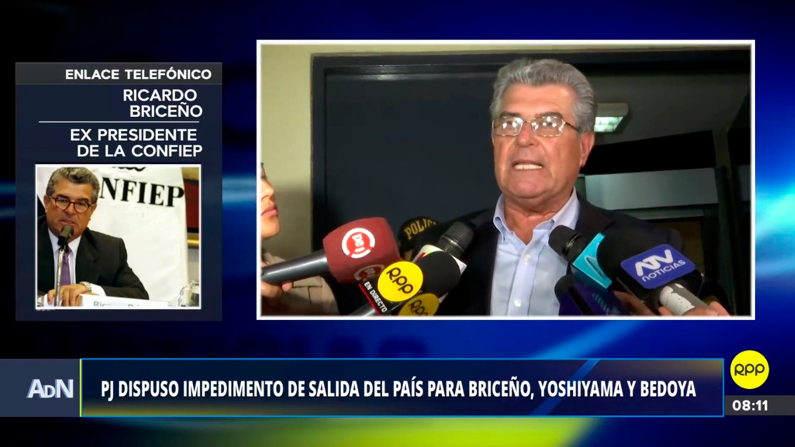 Ricardo Briceño lamentó la situación en la que se encuentra.