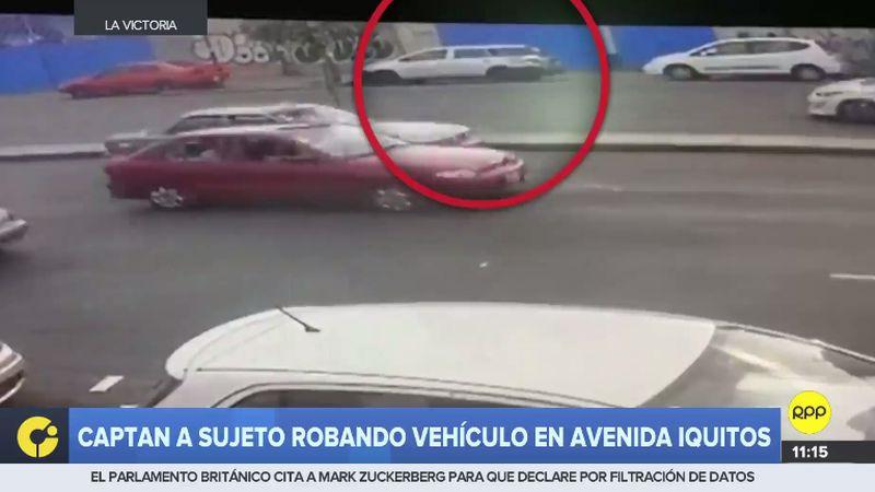 El robo fue a plena luz del día en la cuadra 10 de la avenida Iquitos, en La Victoria.
