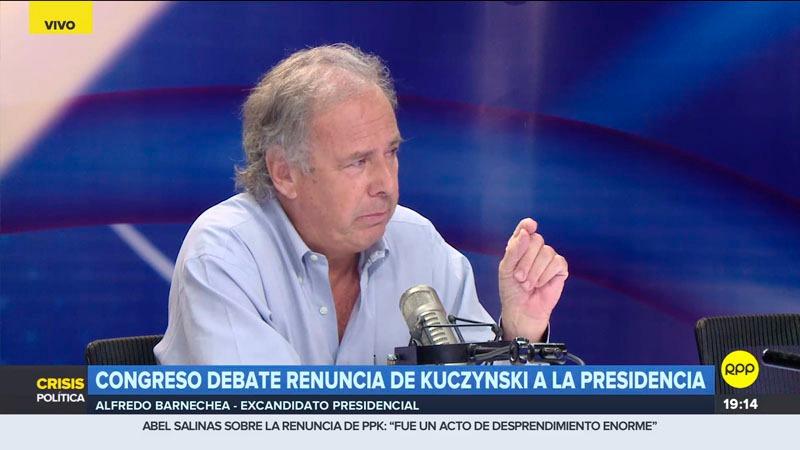 El excandidato presidencial comentó que las fuerzas políticas deberán dar un periodo de tregua a Martín Vizcarra.