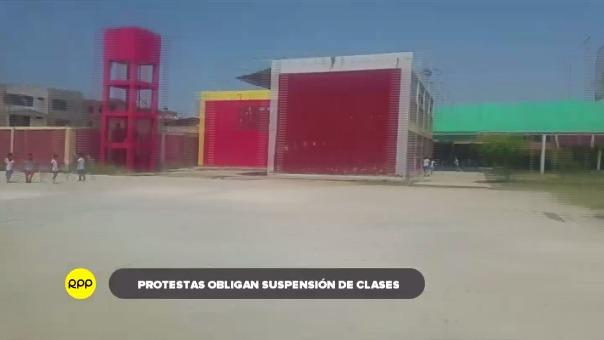 Actividades suspendidas en escuelas