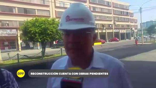 Declaraciones del gerente regional de la Autoridad para la Reconstrucción con Cambios, César Calderón.