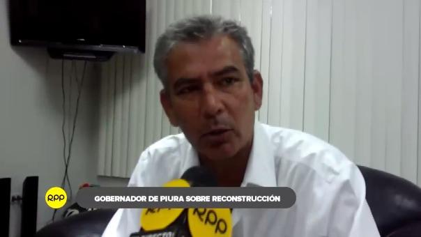 Declaraciones del gobernador regional de Piura, Reynaldo Hilbck.