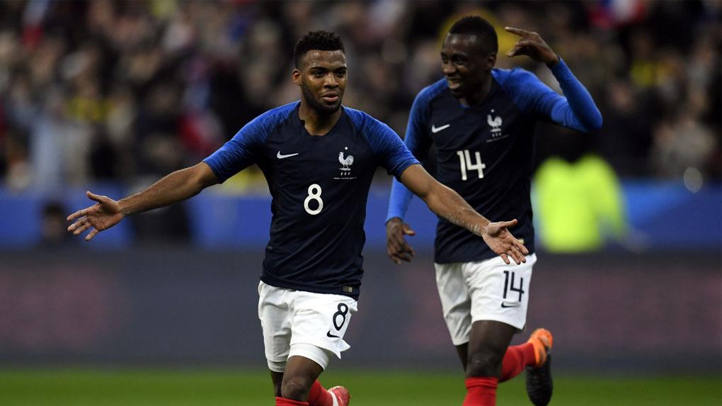 Francia jugó un amistoso ante Colombia en París.