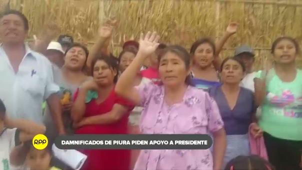 Desde los albergues del kilómetro 980 en Piura, los damnificados tomaron con alegría el discurso del presidente Vizcarra y piden su apoyo.