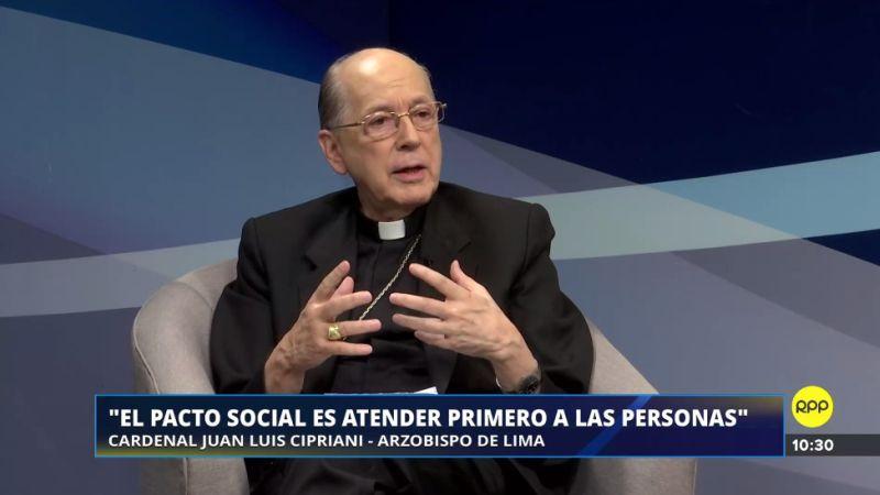 Juan Luis Cipriani habló sobre PPK y Martín Vizcarra en su programa Diálogo de Fe.