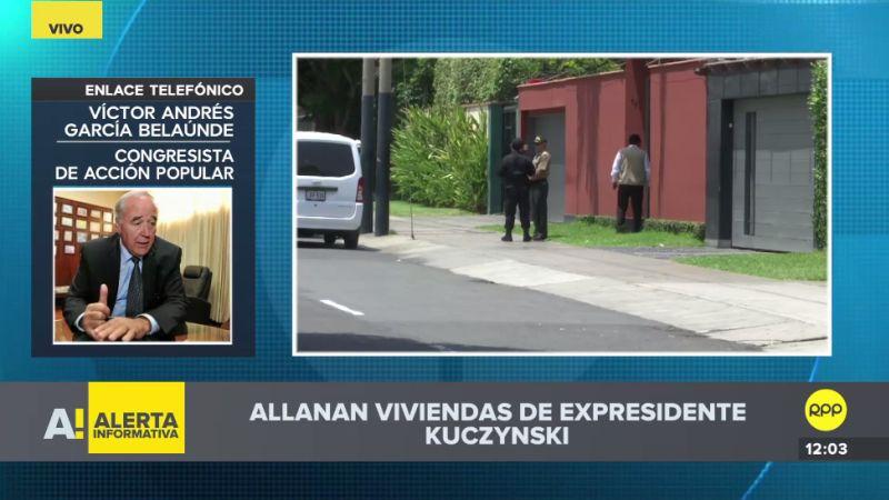 Víctor Andrés García Belaunde opinó sobre el allanamiento de las casas de PPK.