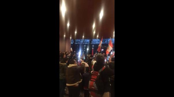 El Himno Nacional se escuchó en Nueva Jersey.