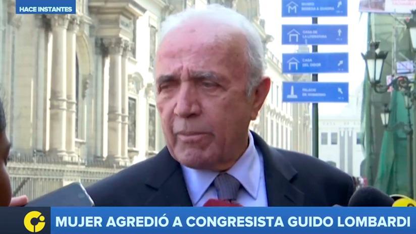 Lombardi fue atacado mientras declaraba a la prensa cerca de Palacio de Gobierno.