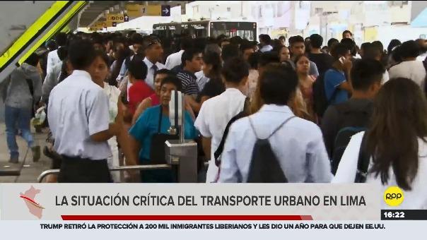 La situación del transporte público en Lima es crítico considerando el númeor de personas que diariamente se movilizan.