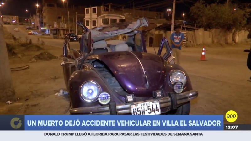 El accidente ocurrió esta madrugada en la avenida María Elena Moyano.
