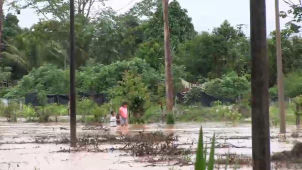 Colegios inundados en Moyobamba.