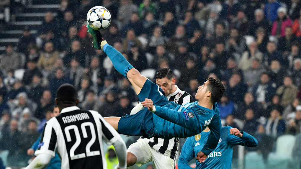 Cristiano Ronaldo marcó un doblete en el duelo ante Juventus por Champions League.