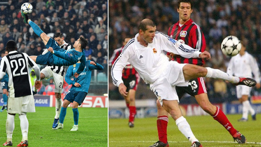 Cristiano Ronaldo marcó un golazo de chalaca ante Juventus.