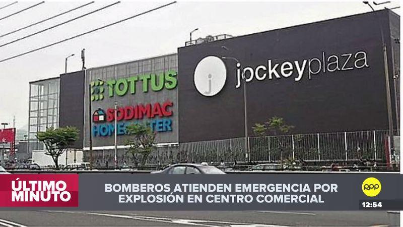 Así informó RPP Noticias la emergencia ocurrida en el Jockey Plaza.