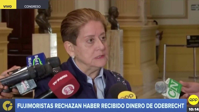 Lourdes Alcorta rechazó declaraciones de Kenji Fujimori.