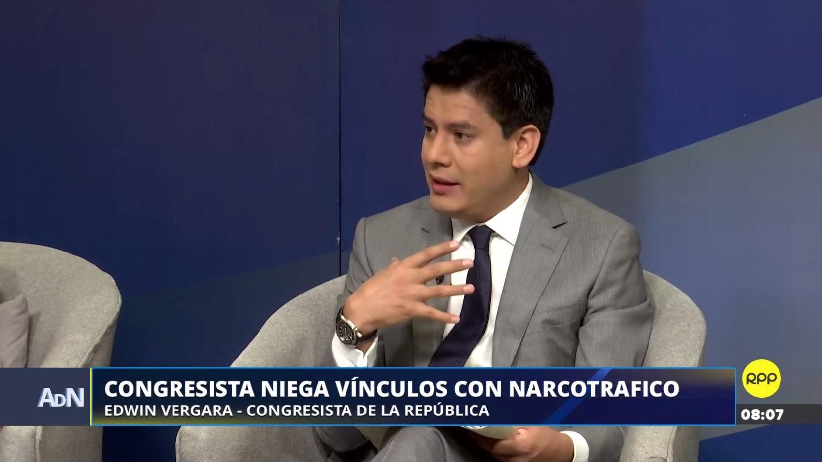 Edwin Vergara negó su vínculo con el narcotráfico en RPP Noticias.