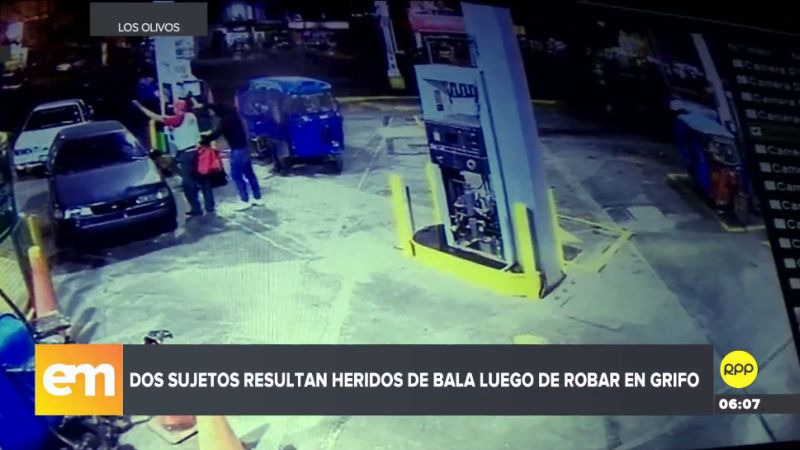 Las imágenes de las cámaras de seguridad mostraron el asalto y la posterior reacción del policía.