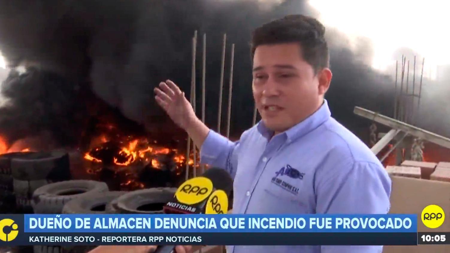 Dueño de almacén denunció que incendio fue provocado