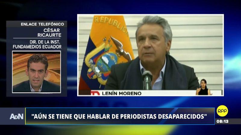 César Ricaurte fue entrevistado esta mañana en Ampliación de Noticias.