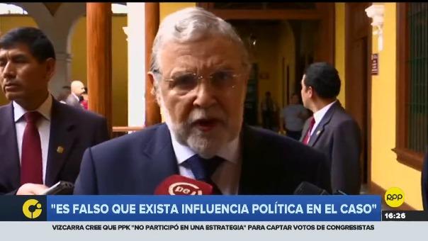 Presidente del TC dijo que es falso que exista influencia política en el caso Ollanta Humala y Nadine Heredia.